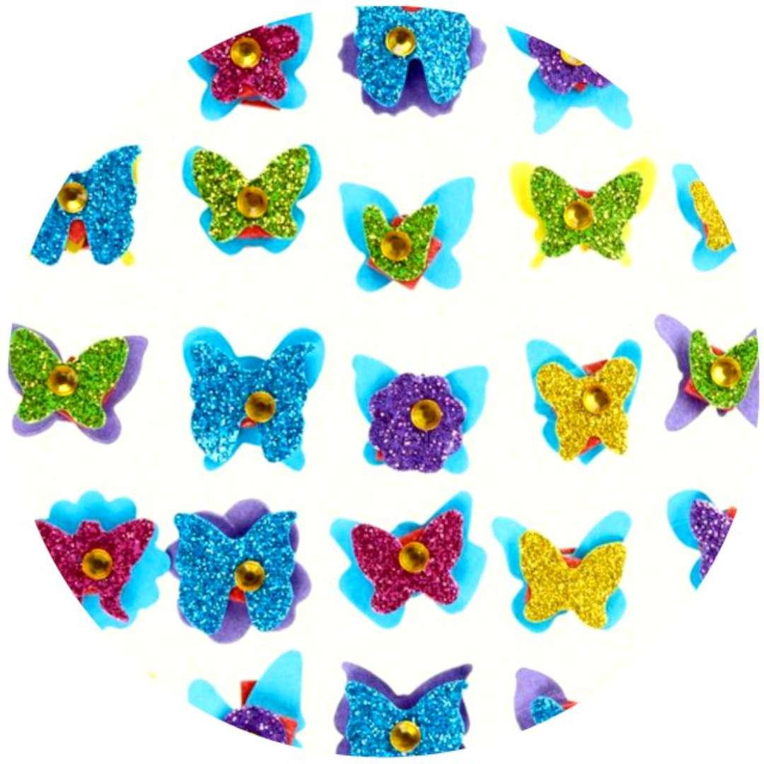 """Naklejki """"Motylki z kryształkiem"""", Titanum"""
