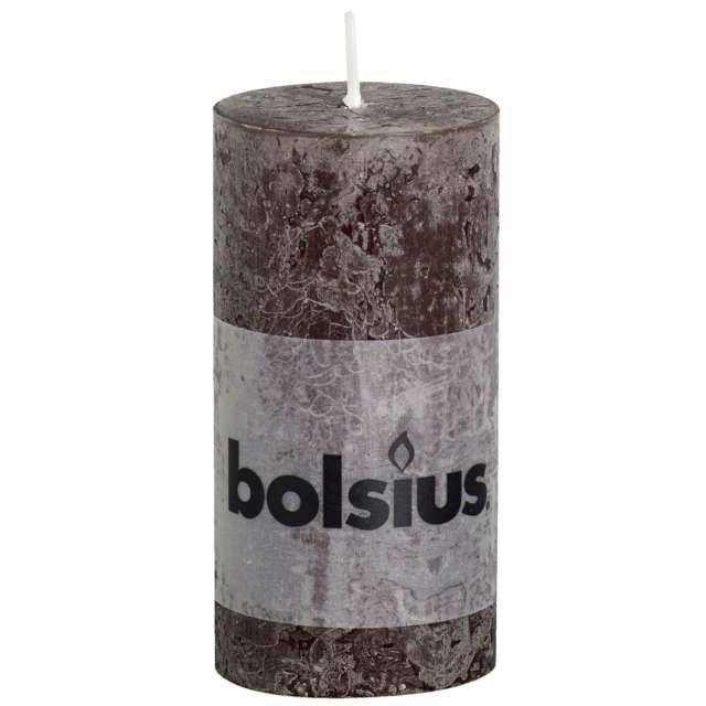 """Świeca pieńkowa """"Rustic"""", brązowa, Bolsius, 100/50 mm"""