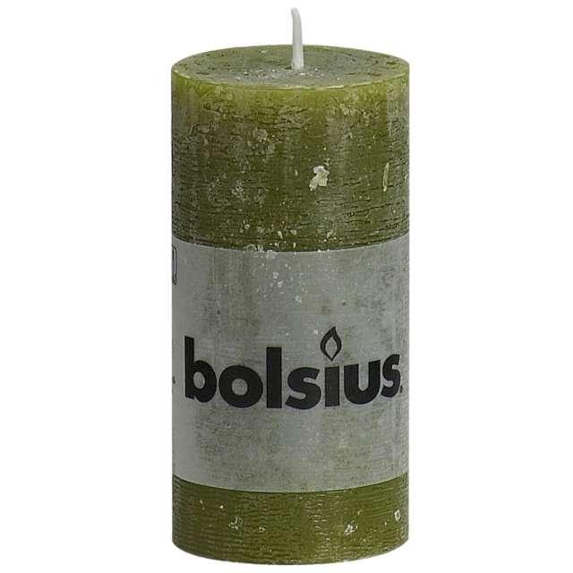 "Świeca pieńkowa ""Rustic"", oliwkowa, Bolsius, 100/50 mm"