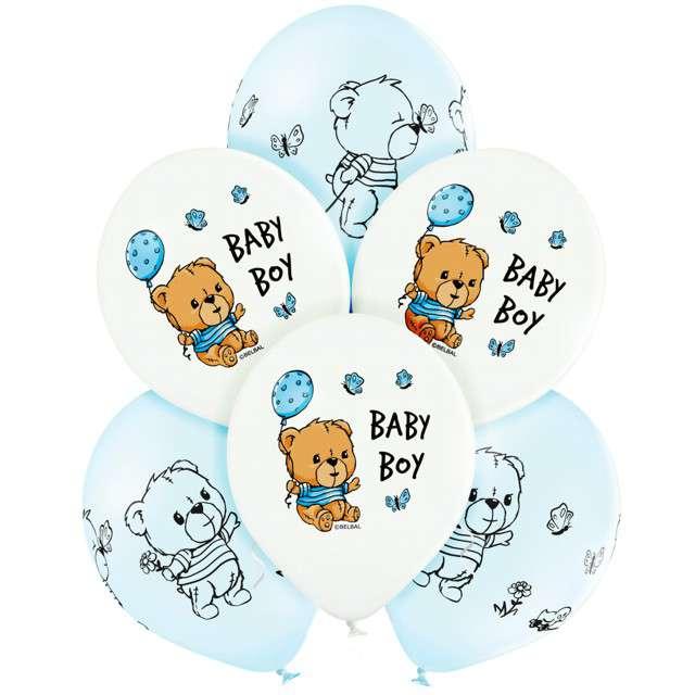 """Balony """"Cute Baby Boy"""", mix, Belbal, 12"""", 6 szt"""