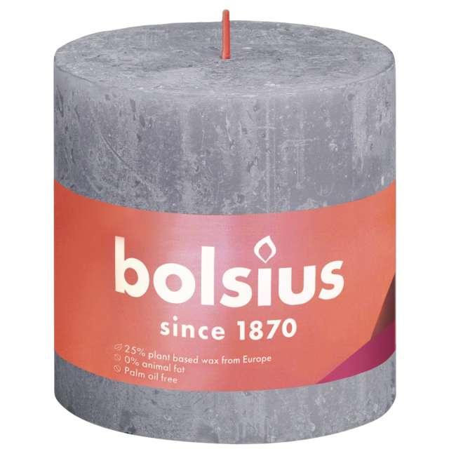 """Świeca pieńkowa """"Rustic"""", lawendowy matowy, Bolsius, 100/100 mm"""