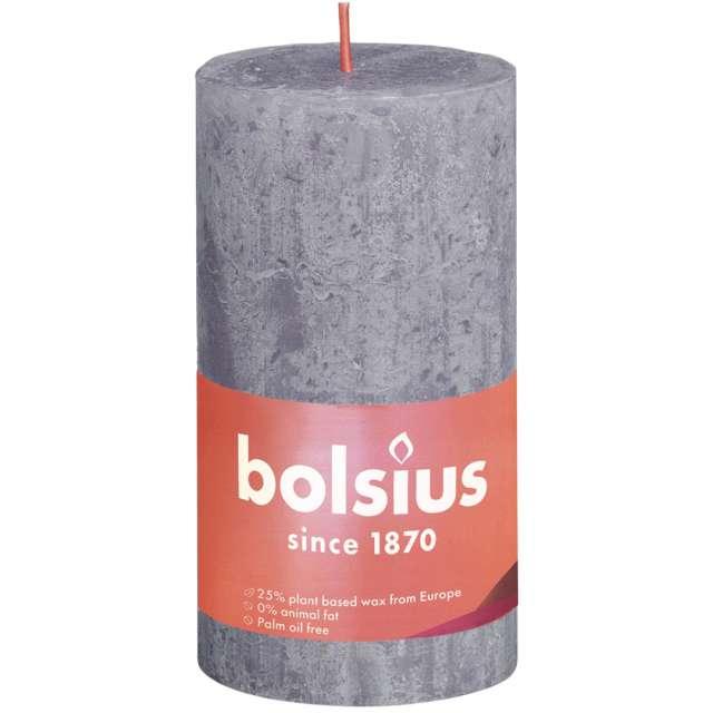 """Świeca pieńkowa """"Rustic"""", lawendowy matowy, Bolsius, 130/68 mm"""