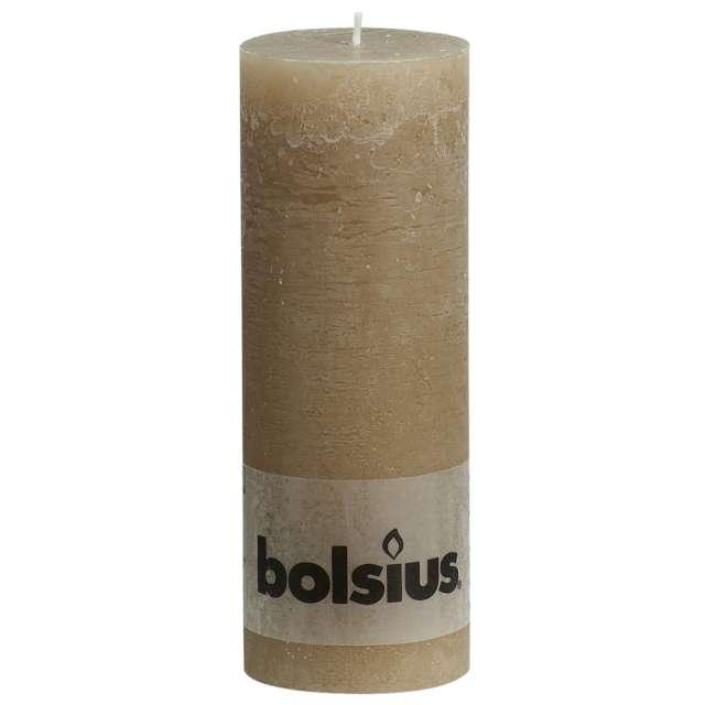 "Świeca pieńkowa ""Rustic"", beżowy pastel, Bolsius, 190/68 mm"