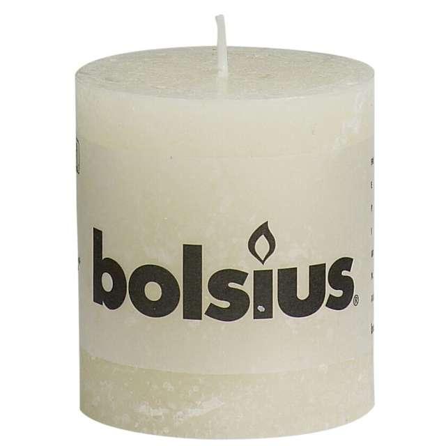 "Świeca pieńkowa ""Rustic"", kremowa, Bolsius, 80/68 mm"