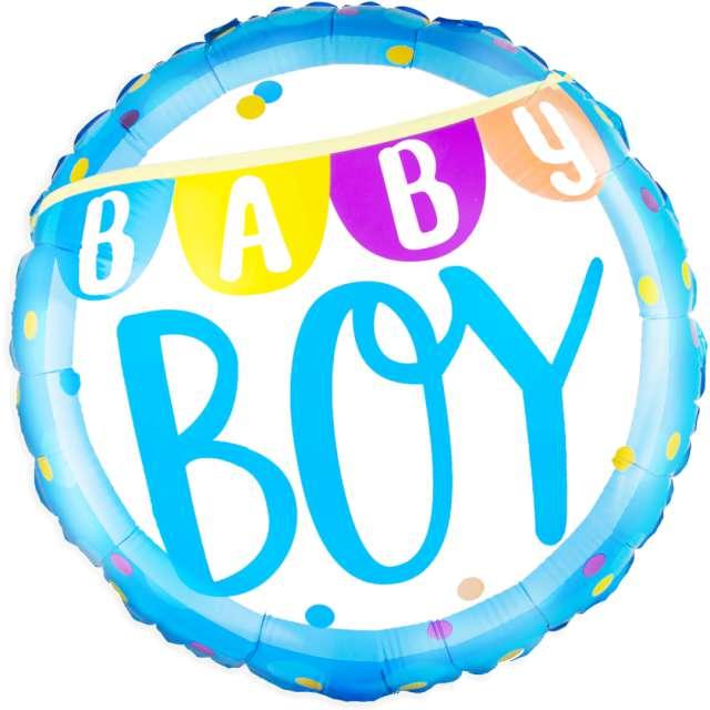 "Balon foliowy ""Baby Boy Baner"", PartyPal, 18 cali, RND"