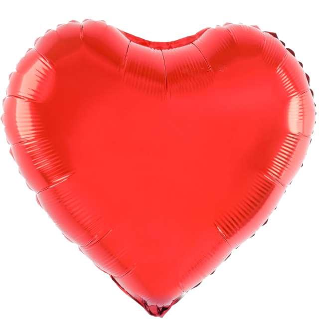 """Balon foliowy """"Serce"""", czerwony, 18 cali, PartyPal, HRT"""