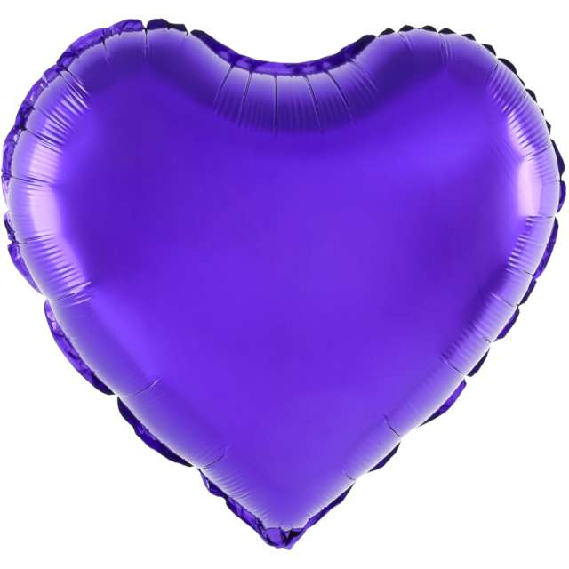 """Balon foliowy """"Serce"""", fioletowy, 18 cali, PartyPal, HRT"""