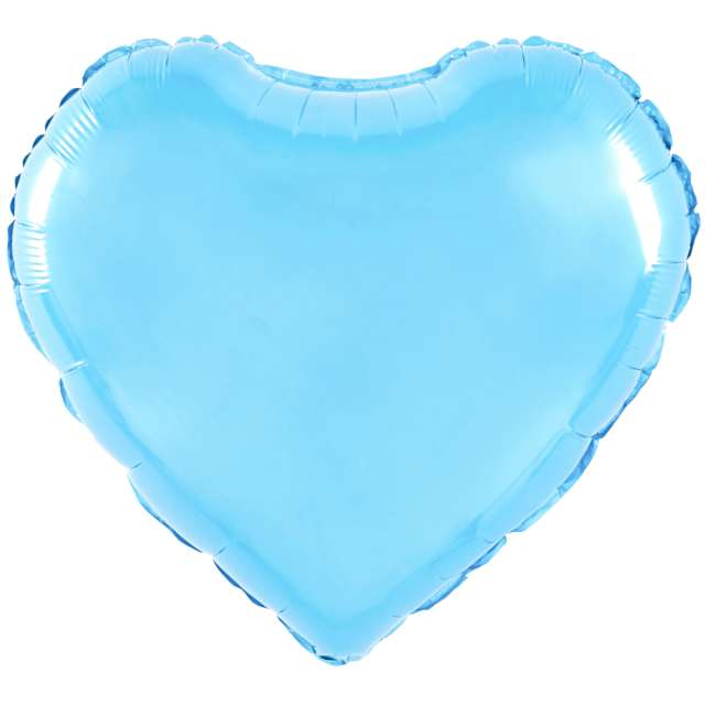 "Balon foliowy ""Serce"", błękitne, 18 cali, PartyPal, HRT"