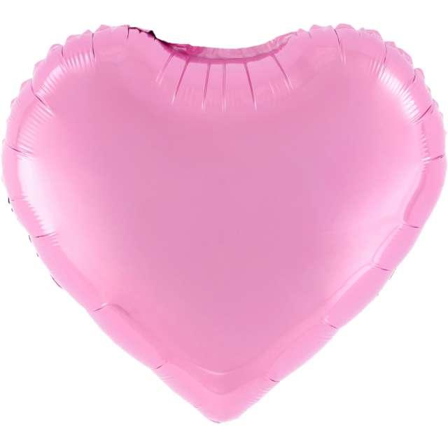 """Balon foliowy """"Serce"""", różowe, 18 cali, PartyPal, HRT"""