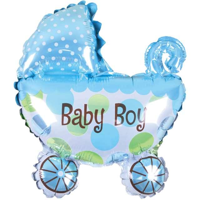 "Balon foliowy ""Baby Shower Boy - Wózek"", PartyPal, 32"", SHP"