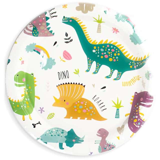 """Talerzyki papierowe """"Dinozaury"""", PartyPal, 7"""", 6 szt"""