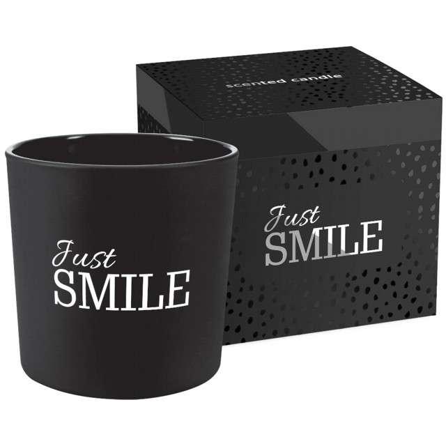 _xx_?w. zapach w szkle z 2 knotami JUST SMILE