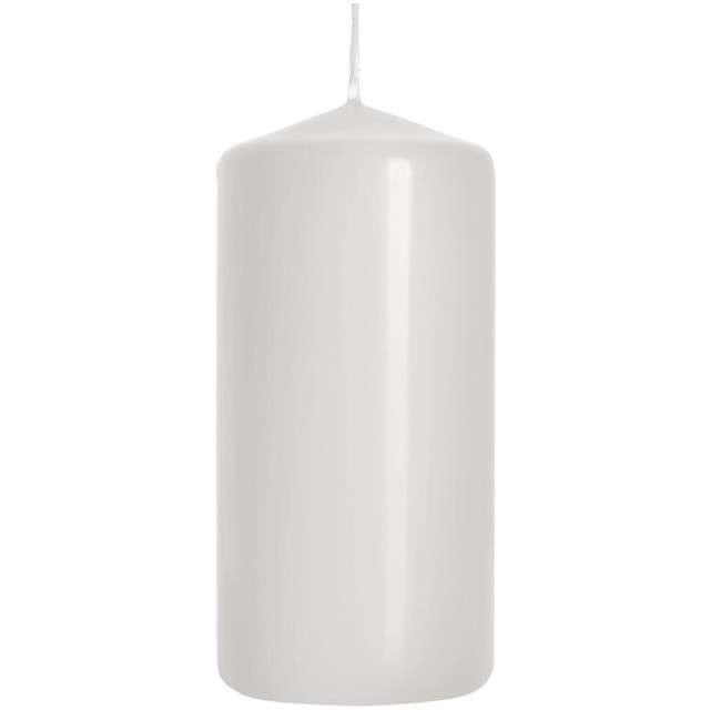 """Świeca pieńkowa """"Classic"""", biała, Bispol, 100/60 mm"""