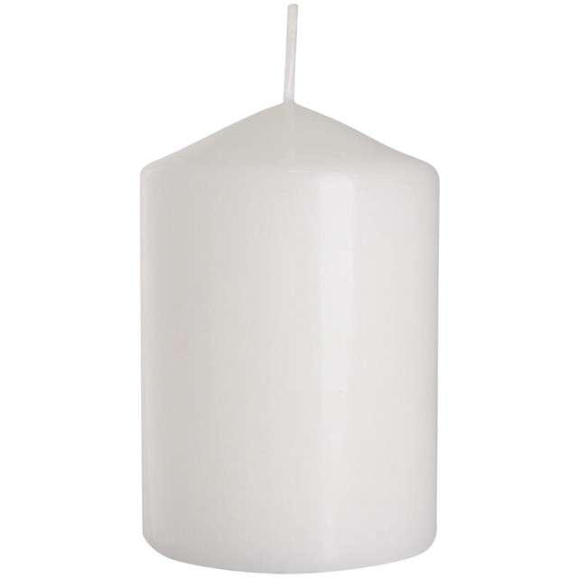 """Świeca pieńkowa """"Classic"""", biała, Bispol, 100/70 mm"""