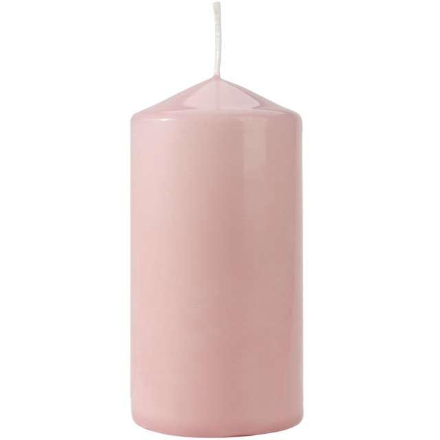 """Świeca pieńkowa """"Classic"""", różowa jasna, Bispol, 120/60 mm"""
