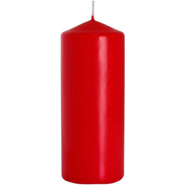 """Świeca pieńkowa """"Classic"""", czerwona, Bispol, 150/60 mm"""