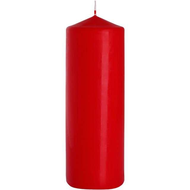 """Świeca pieńkowa """"Classic"""", czerwona, Bispol, 250/80 mm"""
