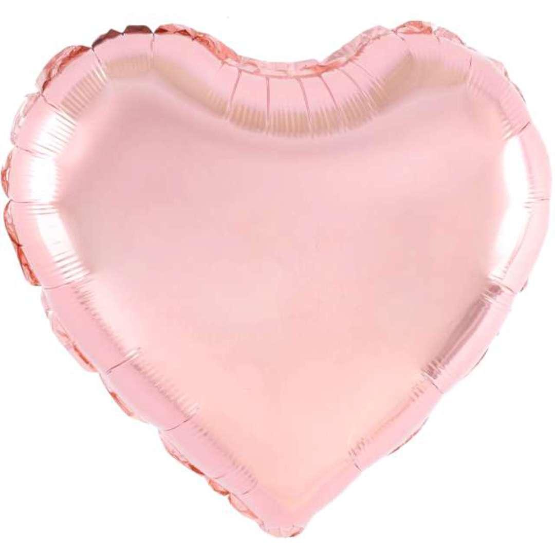 "Balon foliowy ""Serce"", różowe złoto, 18 cali, PartyPal, HRT"