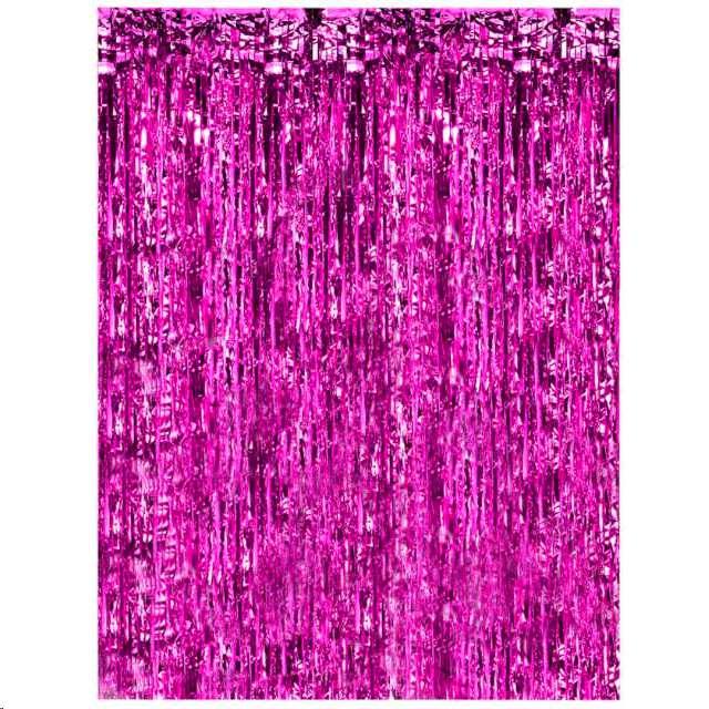 """Kurtyna na drzwi """"Classic"""", różowa ciemna, PartyPal, 200 x 100 cm"""