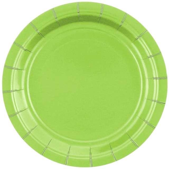 """Talerzyki papierowe """"Classic"""", zielone, Godan, 18 cm, 20 szt"""