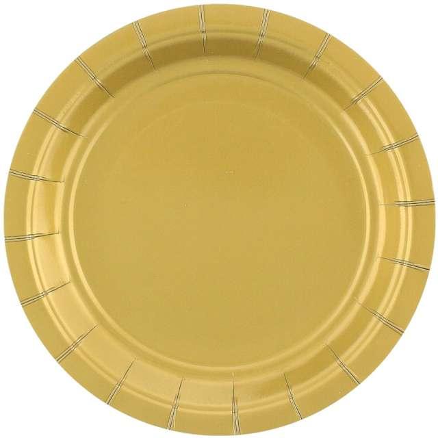"""Talerzyki papierowe """"Classic"""", złote, Godan, 18 cm, 20 szt"""