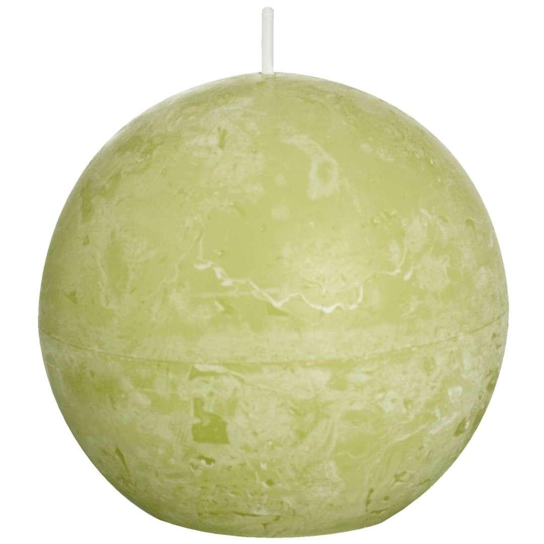 """Świeca """"Rustic Kula"""", zielony pastel, Bolsius, 80 mm"""