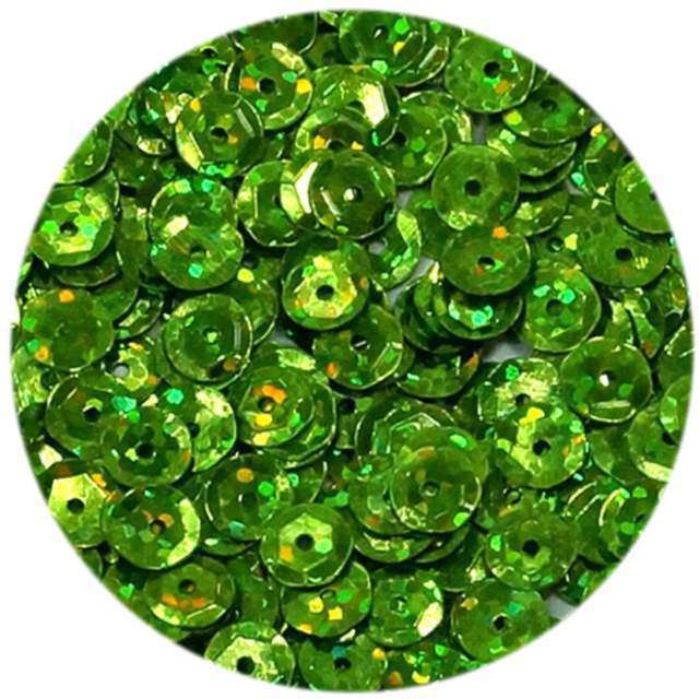 """Cekiny """"Classic Holo"""", zielone jasne, 8 mm, 10 g, Aliga"""