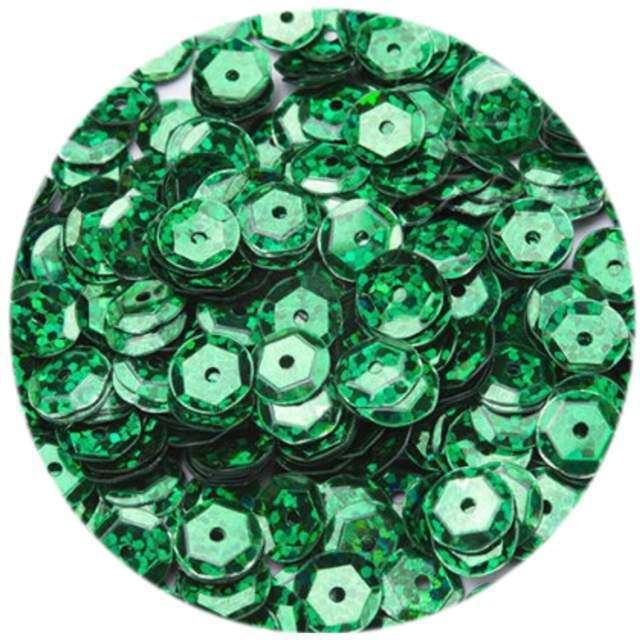 """Cekiny """"Classic Holo"""", zielone ciemne, 8 mm, 10 g, Aliga"""
