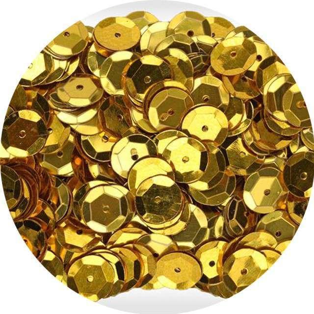 "Cekiny ""Classic Metalic"", złote, 8 mm, 10 g, Aliga"