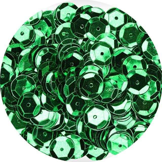 "Cekiny ""Classic Metalic"", zielone, 8 mm, 10 g, Aliga"