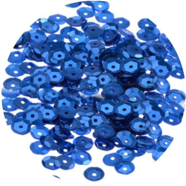 """Cekiny """"Classic Metalic"""", niebieskie, 8 mm, 10 g, Aliga"""