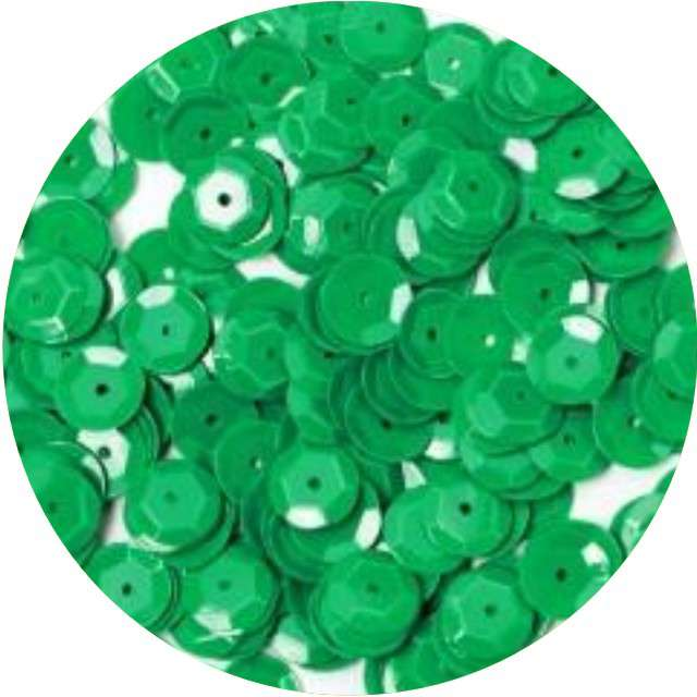 "Cekiny ""Classic Pastel"", zielone ciemne, 8 mm, 10 g,"