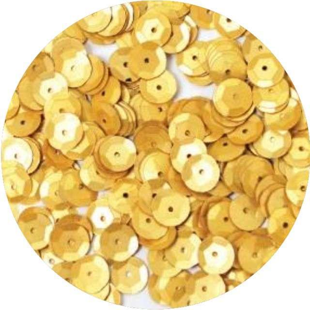 "Cekiny ""Classic Pastel"", złote, 8 mm, 10 g, Aliga"