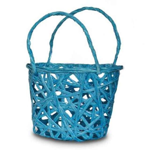 """Koszyczek papierowy """"Plecionka Niebieska"""", prostokatny, Aliga"""