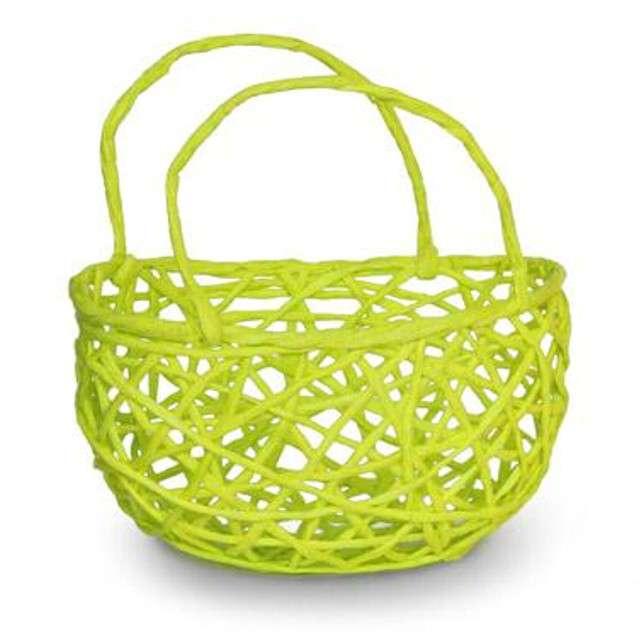 """Koszyczek papierowy """"Plecionka Zielona"""", okrągły, Aliga"""