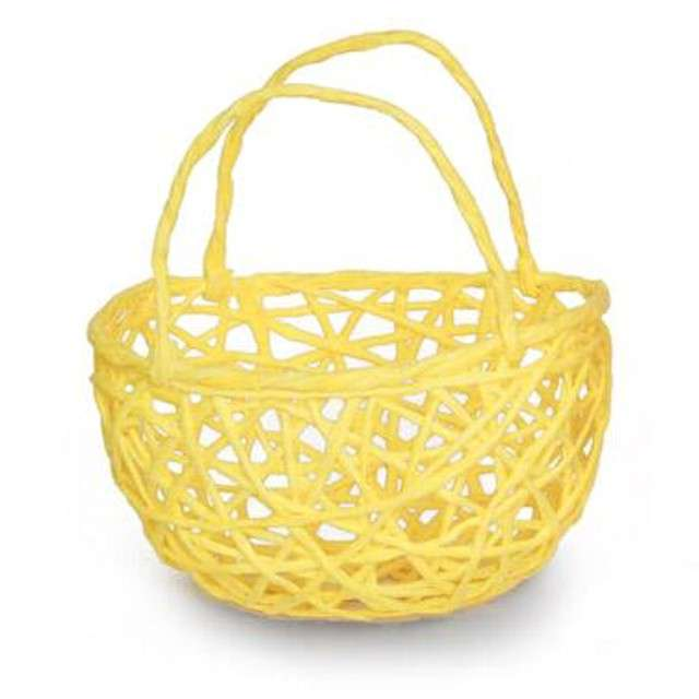 """Koszyczek papierowy """"Plecionka Żółta"""", okrągły, Aliga"""