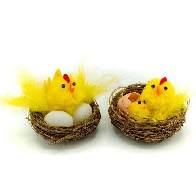 """Dekoracje """"Zestaw Kurka i kurczak w gniazdku"""", ALIGA, 2 szt"""