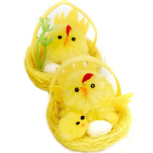 """Dekoracje """"Zestaw Kurki w gniazdku z jajkami"""", ALIGA, 2 szt"""