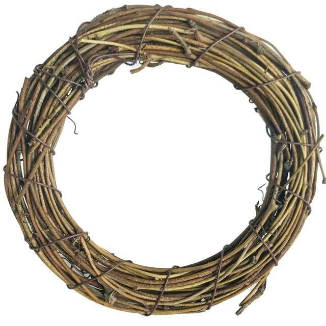 """Ozdoba """"Ring rattanowy"""", naturalny, Aliga, 23 cm"""