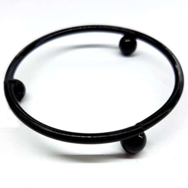 Stojak na pisankę Podstawka na nóżkach czarny Aliga 2x55 cm