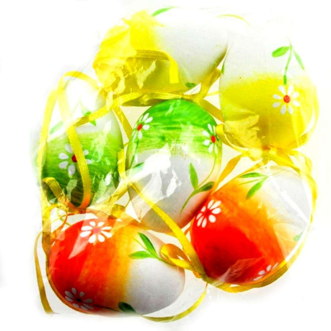 """Jajka """"Ręcznie malowane w kwiatki"""", mix, ALIGA, 6 cm, 6 szt."""