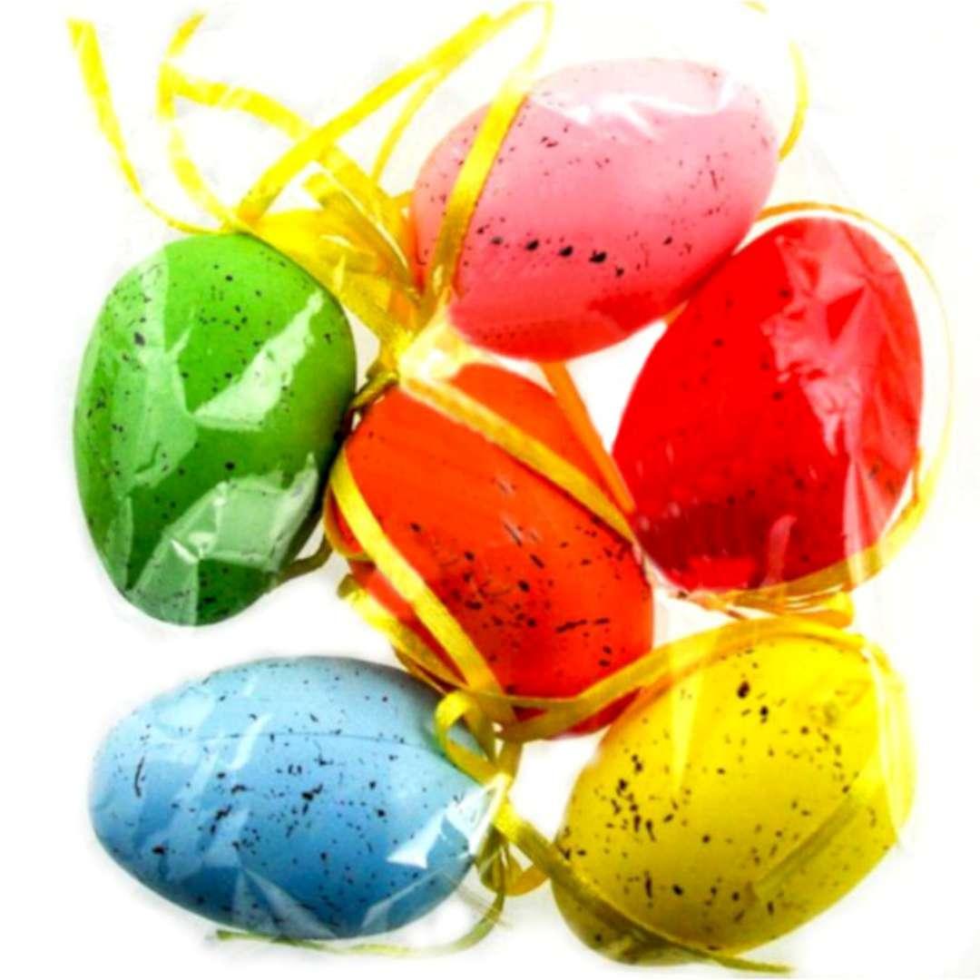 """Jajka """"Ręcznie malowane w plamki"""", mix, ALIGA, 6 cm, 6 szt."""