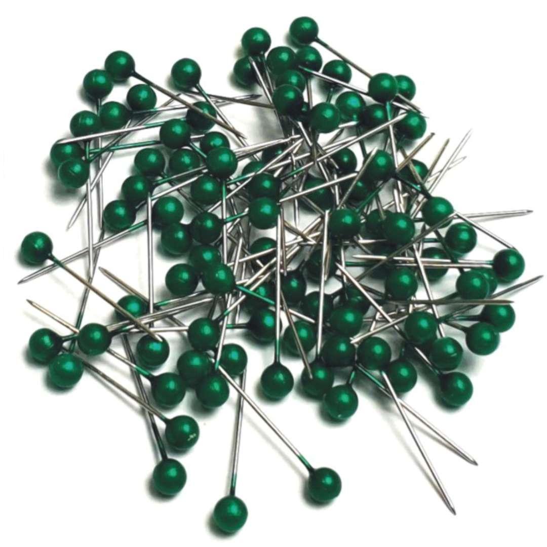 Szpilki Perełki zielone ciemne 22 mm Aliga 100 szt