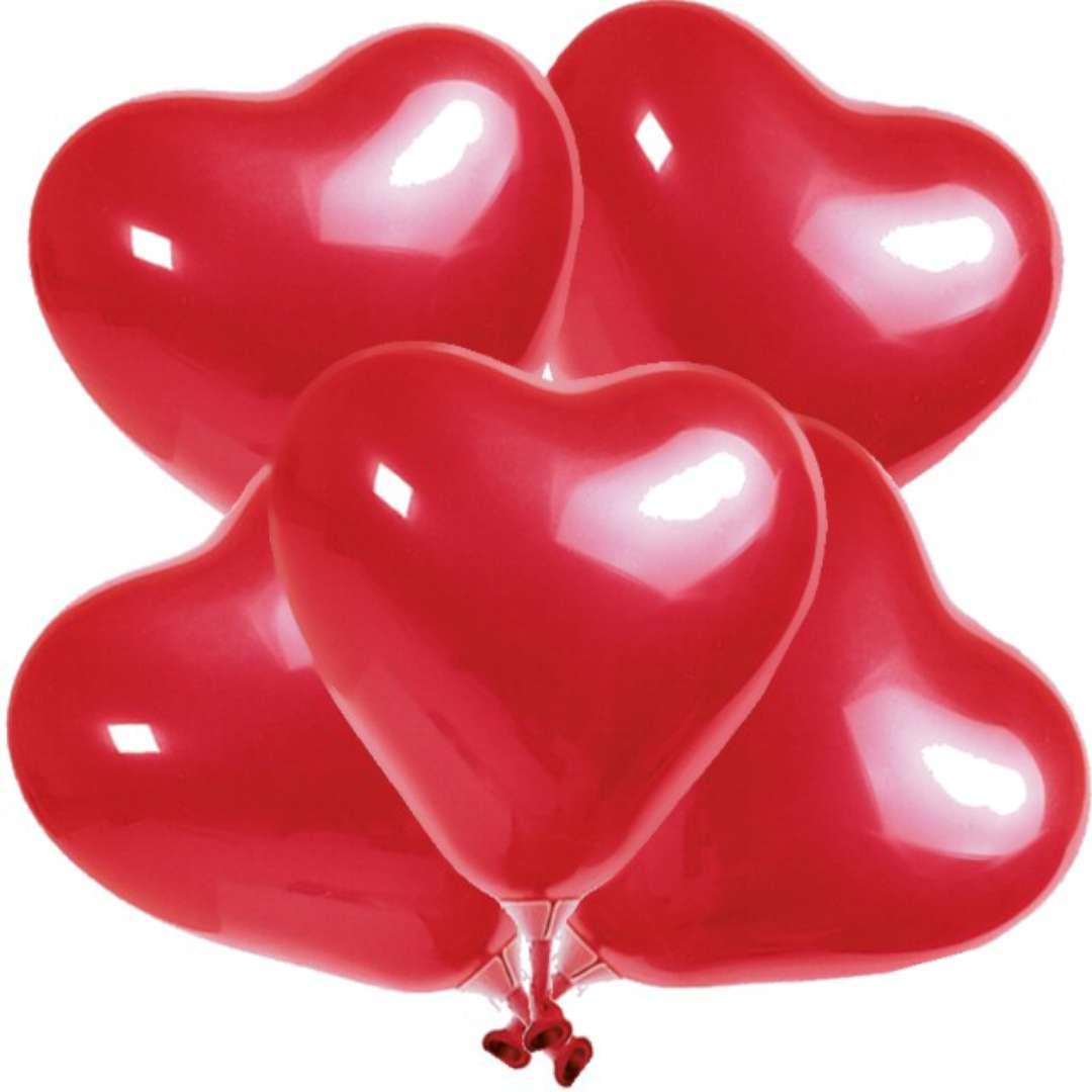 "Balony ""Serca czerwone"", Amscan, 8"", 5 szt, HRT"