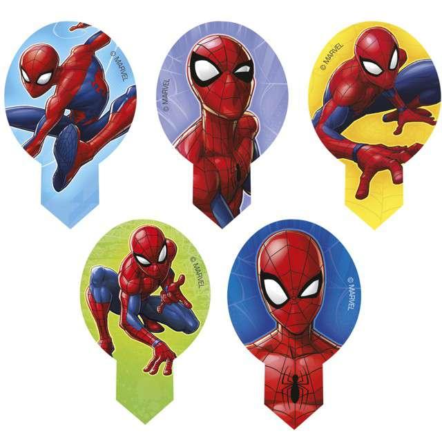 """Dekoracja na Muffinki - opłatki """"Spiderman"""", 6,5cm, Dekora, 20szt"""
