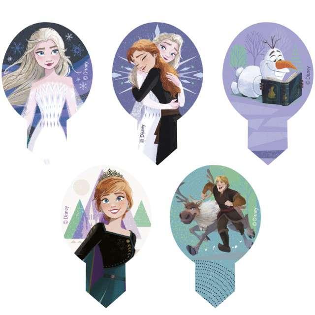 """Dekoracja na Muffinki - opłatki """"Frozen"""", 6,5cm, Dekora, 20szt"""