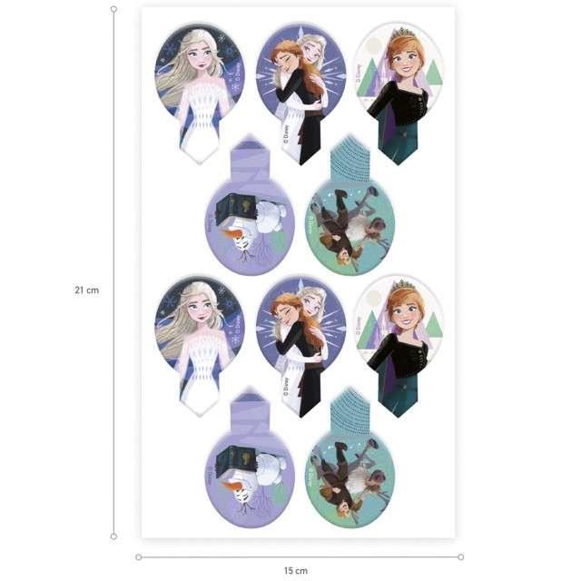 Dekoracja na Muffinki - opłatki Frozen 65cm Dekora 20szt