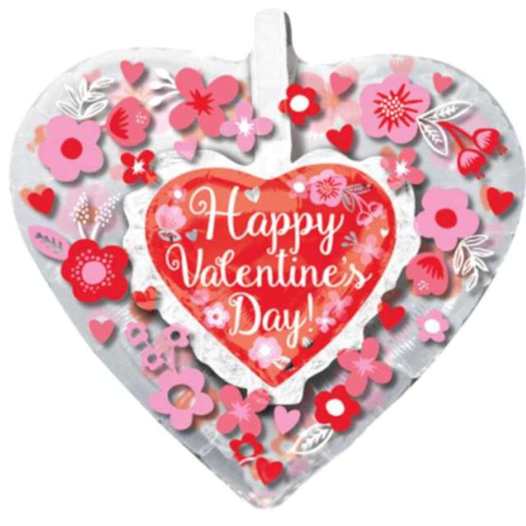 "Balon foliowy ""Happy Valentines Day"", Amscan, 26"", HRT"