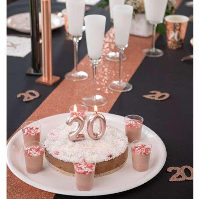 Świeczka Metaliczna cyfra 1 różowe złoto Santex 9 cm