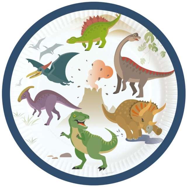 _xx_8 Plates Happy Dinosaur Paper Round 17.7 cm